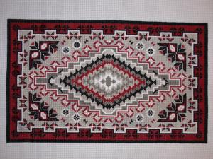 Cross-Stitched Navajo Weaving