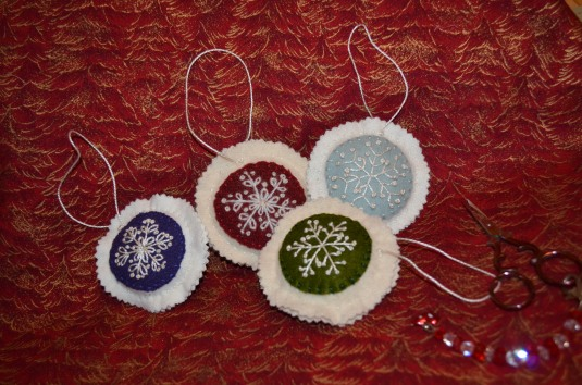 Wool Ornaments 1