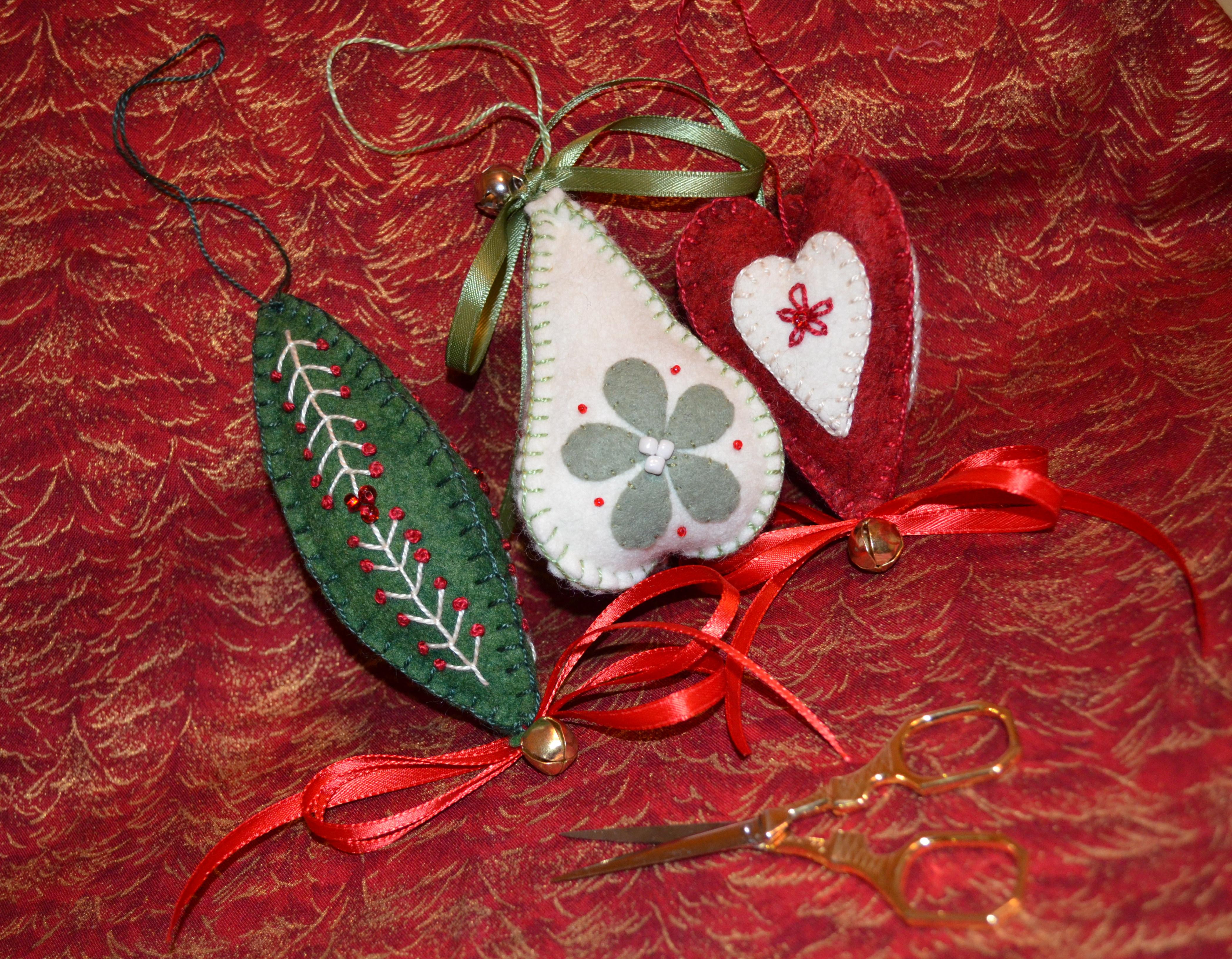 Wool felt ornaments - Wool Felt Ornaments 2
