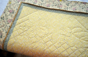 Yellow Whole Cloth Quilt
