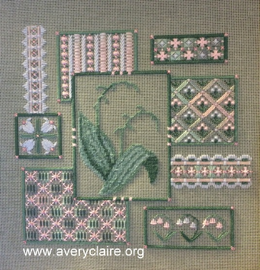 Lily of the Valley Collage progress